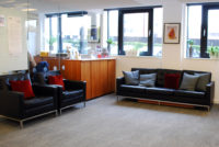 JHub Studio Sofa Breakout Area